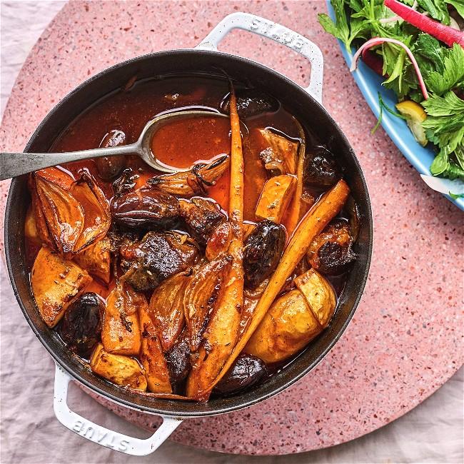 Image of Root Vegetable & Date Stew
