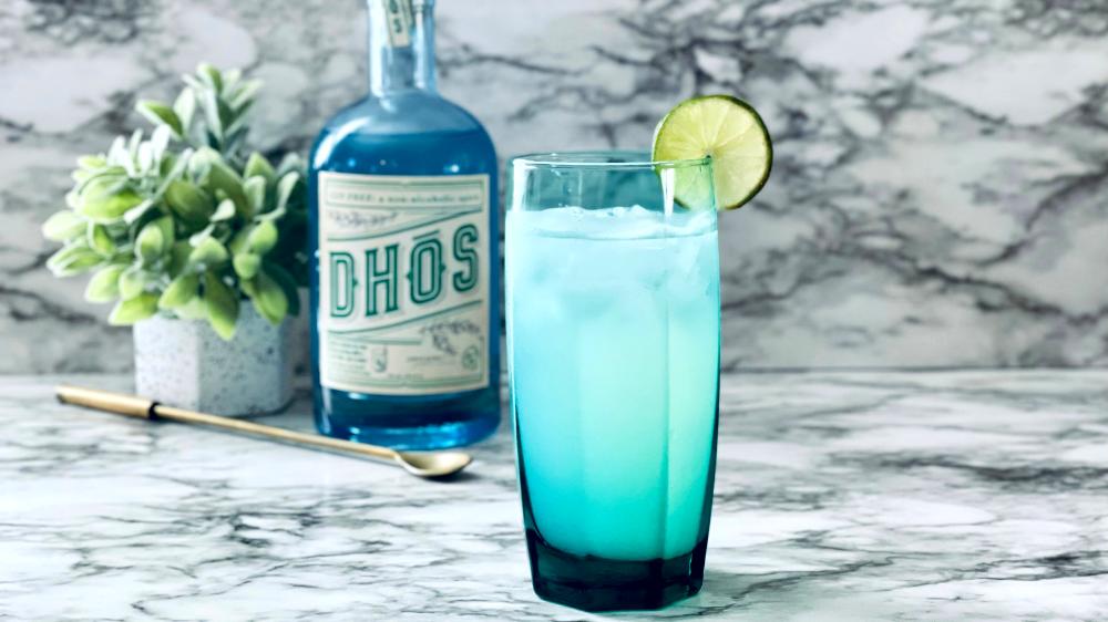 Image of DHOS Gin Free Non-Alcoholic Gin Rickey Recipe