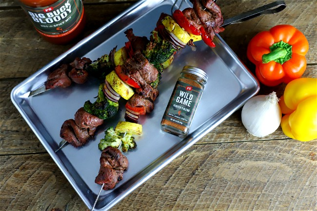 Image of Bloody Mary Venison Skewers