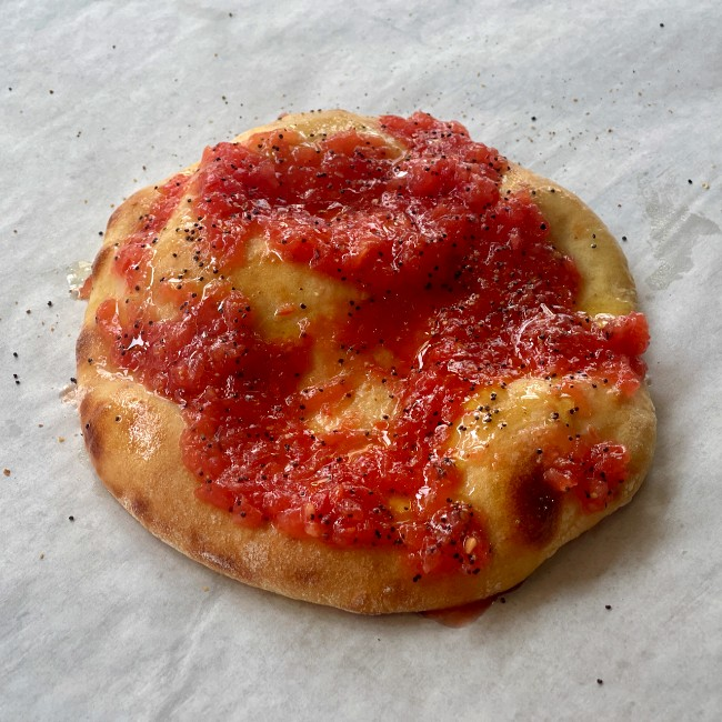 Image of Grated Tomato Flatbreads with Poppy Seeds