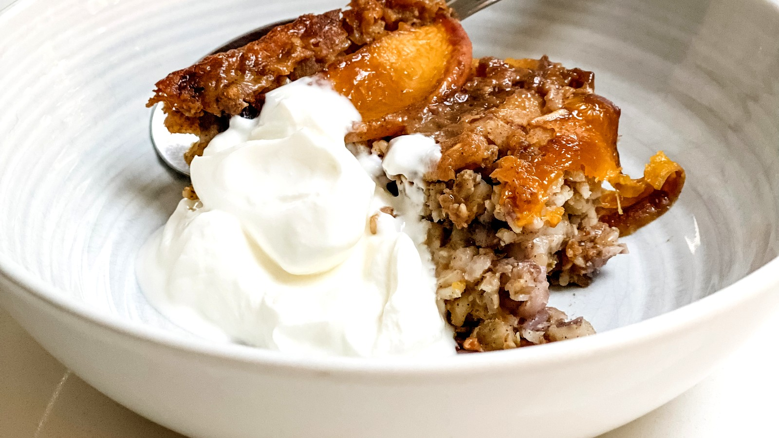 Image of Baked Oatmeal with Ontario Peaches