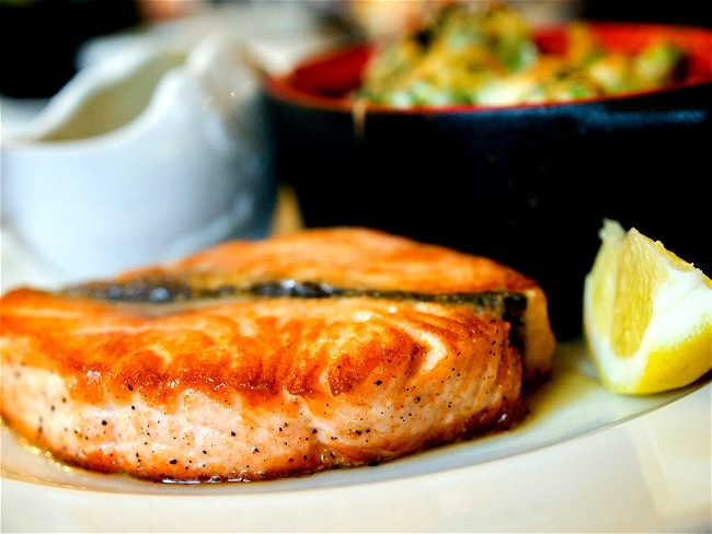 Image of Salmon in Air fryer