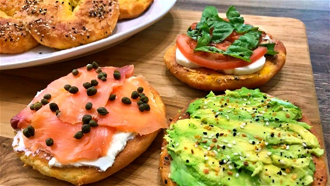 Image of Smoked Salmon and Cream Cheese on Keto Bagels