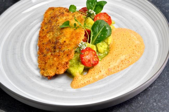 Image of Doradenfilet unter der Oliven Kruste | Kartoffel-Pesto-Salat
