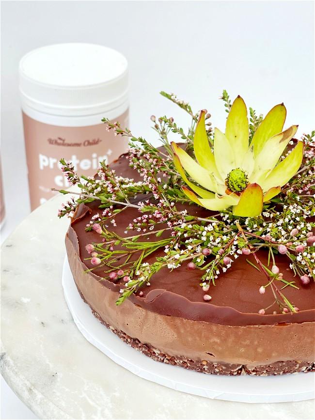 Image of Mandy's Raw Peanut Butter Chocolate Cake+