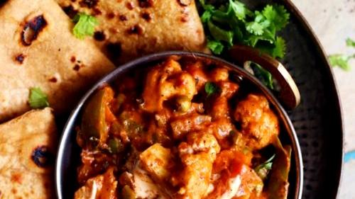 Image of Veg Kadai Curry (Sabzi) Recipe