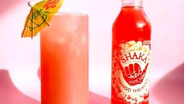 Image of Pickled Mango Hibiscus Sake Cooler