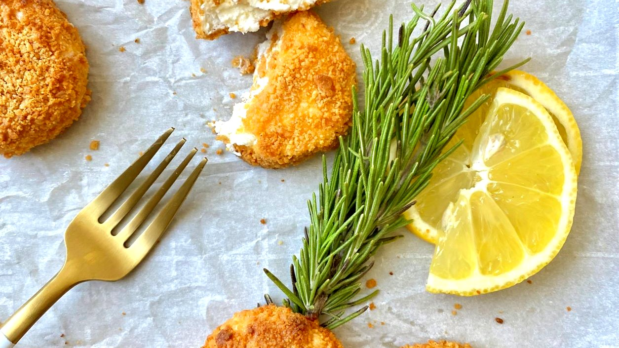 Image of Keto Fried Goat Cheese
