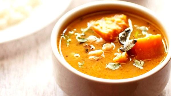 Image of Black Eyed Beans Pumpkin Sambar Recipe