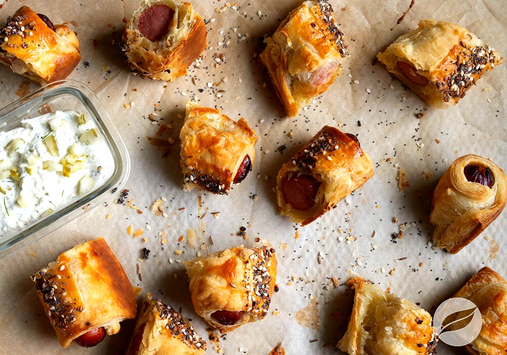 Image of Pigs in a Blanket with Pickle Dip