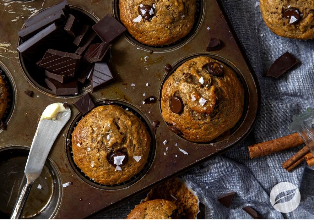 Image of Banana Chai Chocolate Chip Muffins