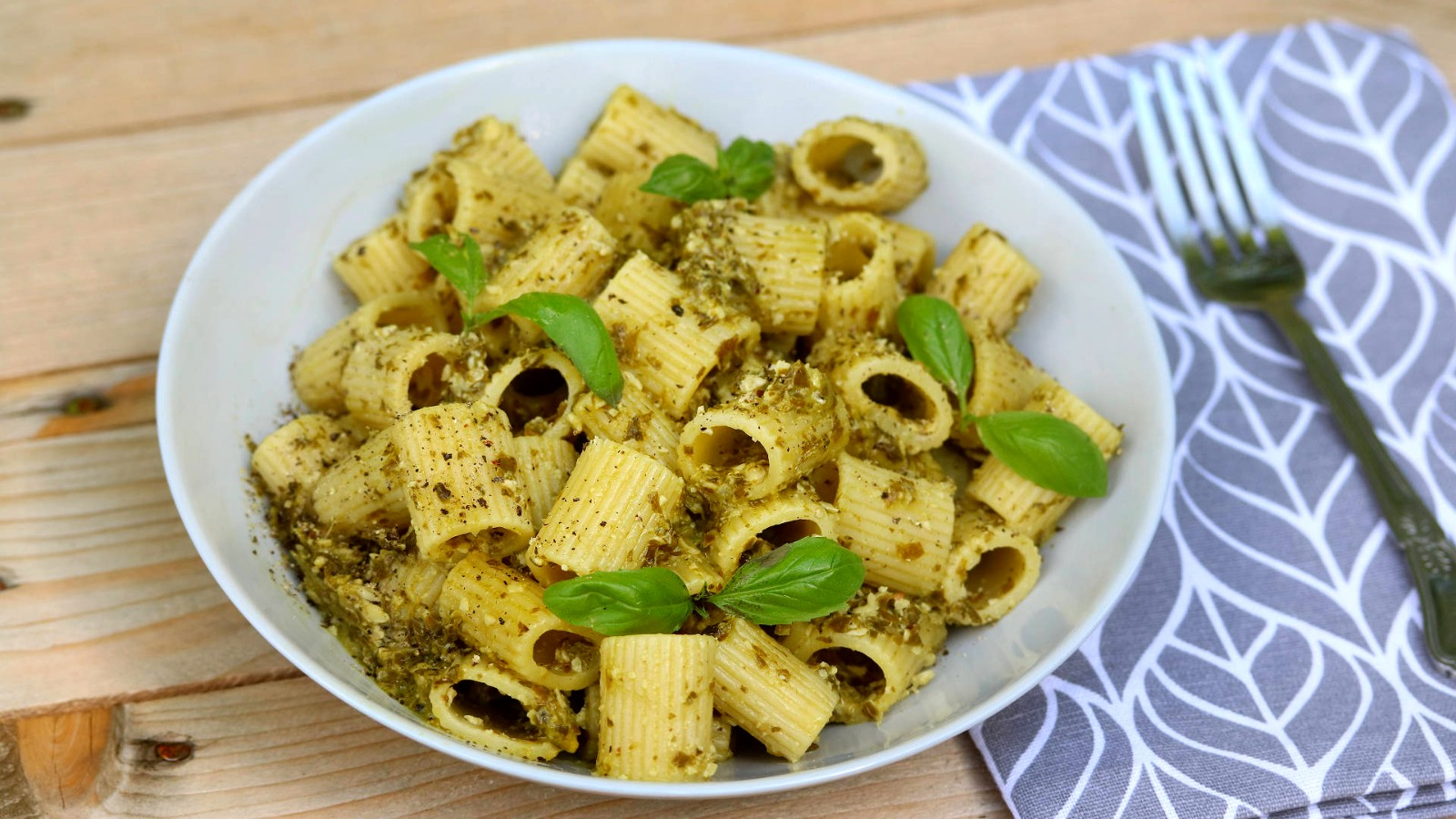 Image of Healthy and Delicious Nut Free Pesto Pasta