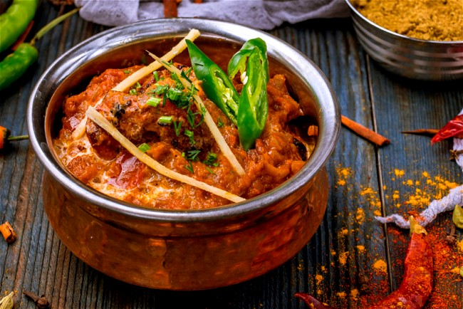 Image of Slow cooked Butter Chicken and Eggplant Masala