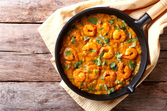 Image of Goan Yellow Prawn and Spinach Curry