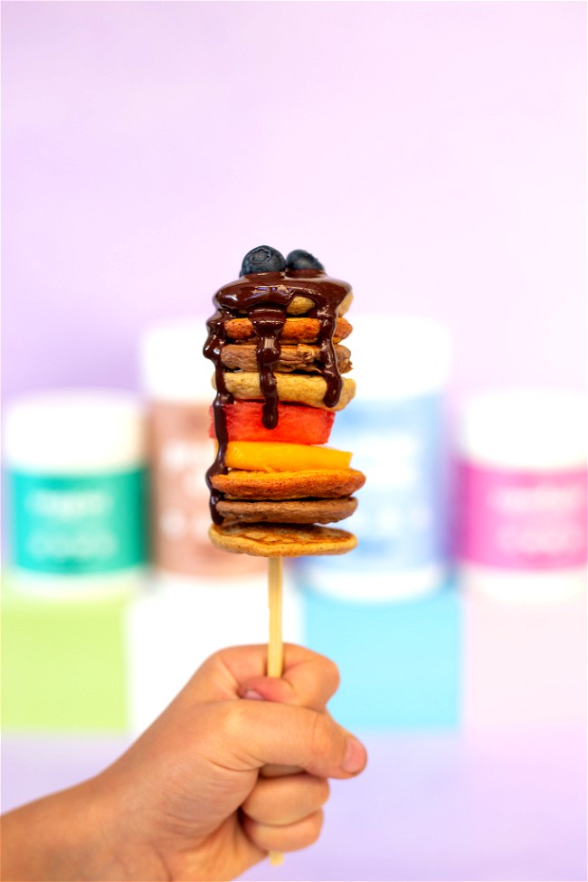 Image of Boosted Pancakes 4 Ways - Popsicles