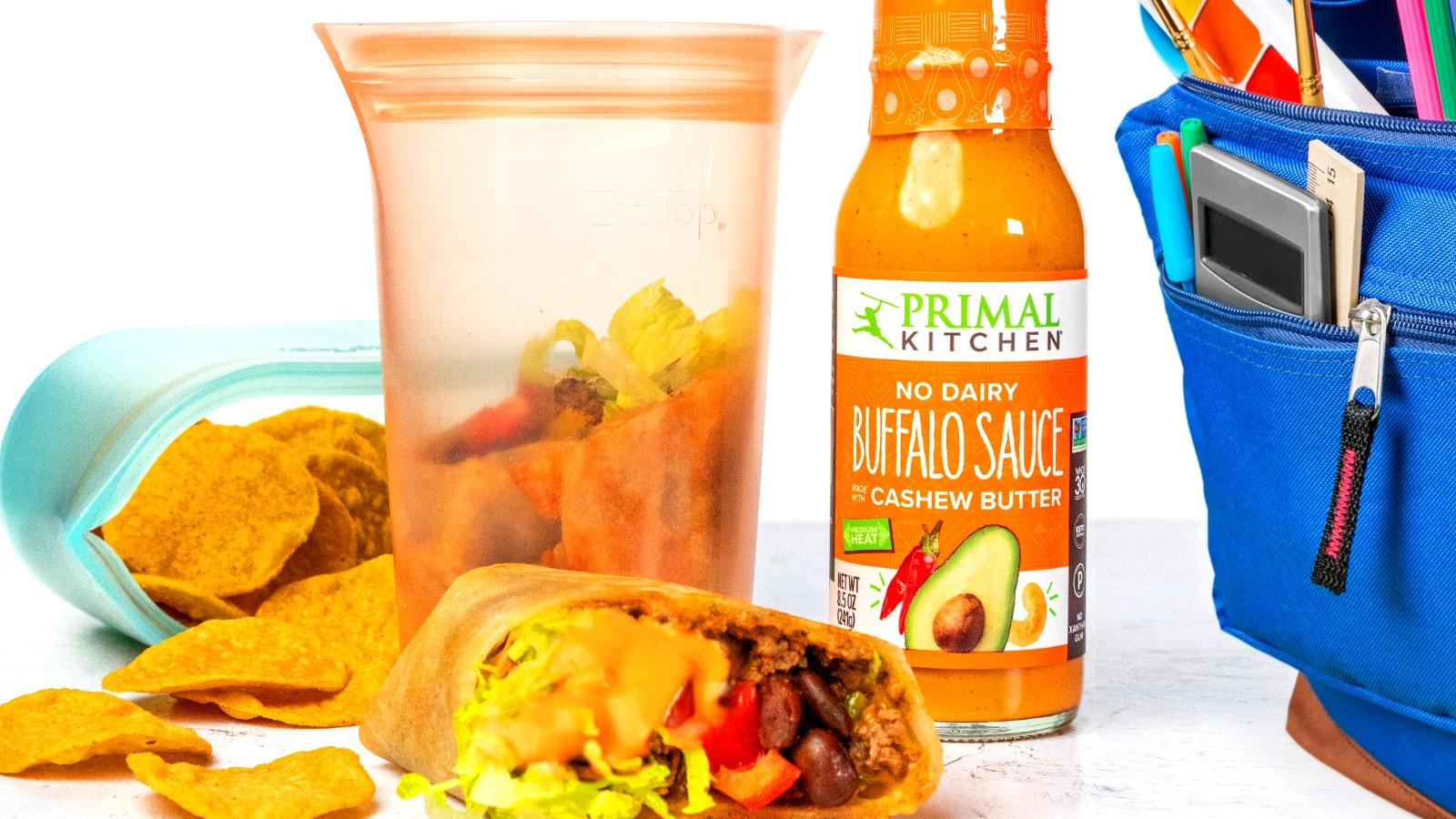 Image of Beef Burrito with Buffalo Sauce