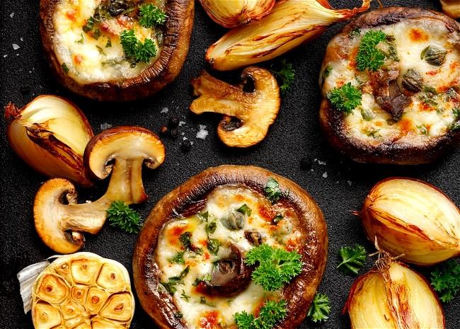 Image of Cheesy Stuffed Mushrooms