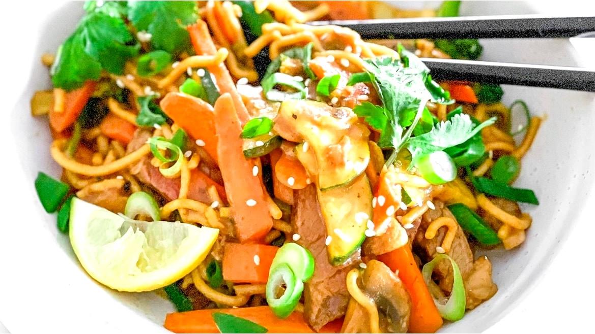 Image of Beef Noodle Stir fry
