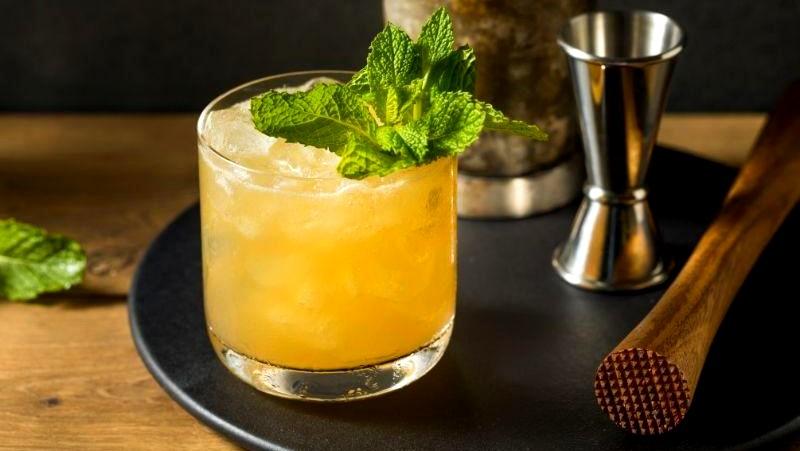 Image of Brown Sugar Grapefruit Whiskey Smash
