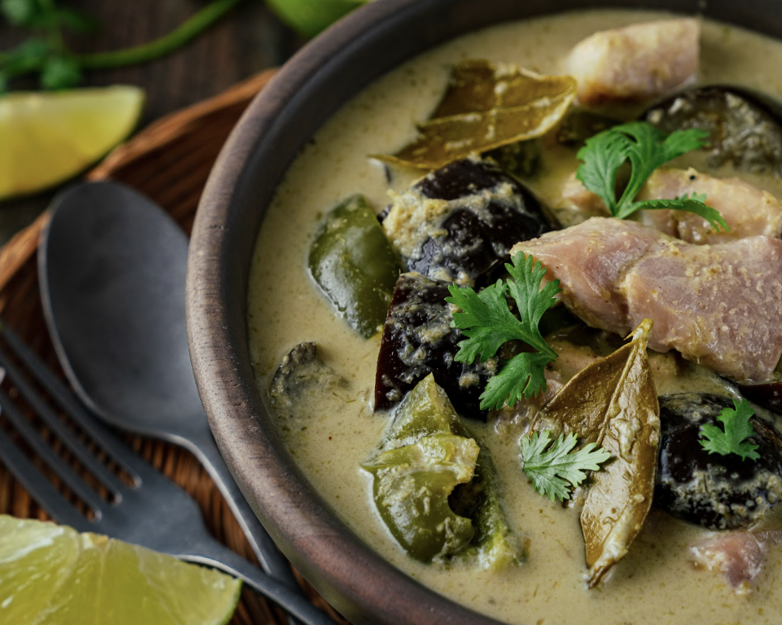 Image of Connie's Thai Green Curry with Rock Cod and Late Summer Veggies