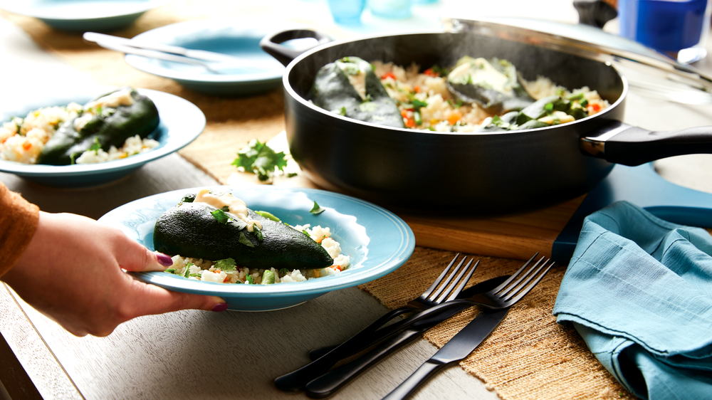 Image of One Pot Chiles Rellenos with Rice