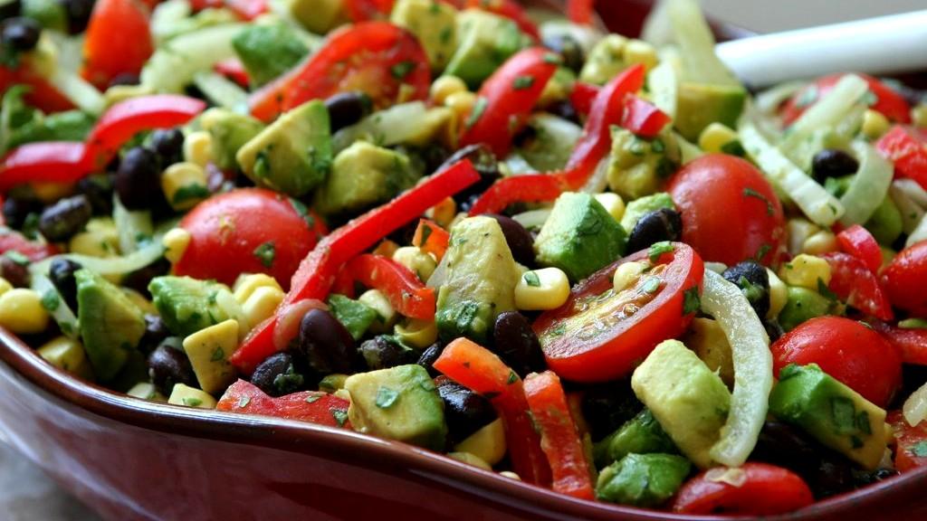 Image of Black Bean, Corn, Avocado, and Tomato Salad