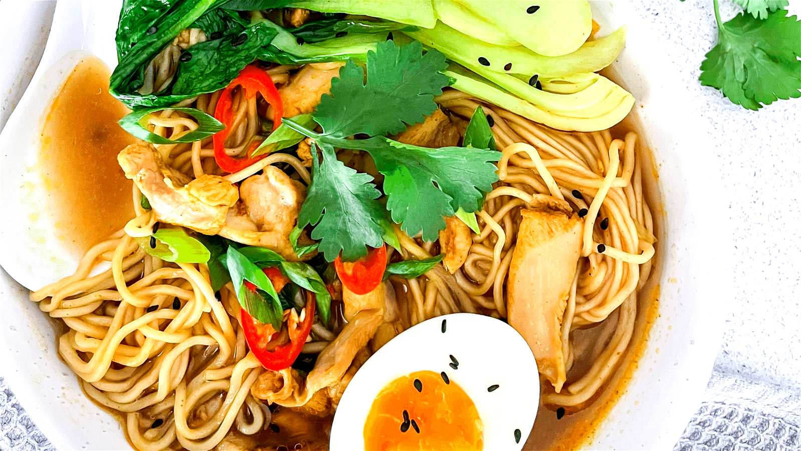Image of Quick Oriental Chicken Noodle Soup