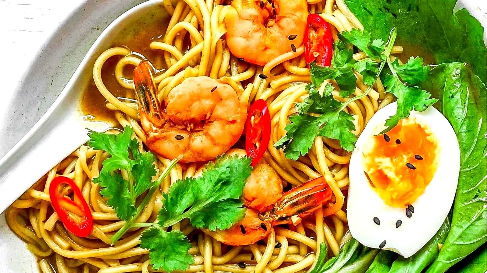 Image of Oriental Prawn Noodle Soup