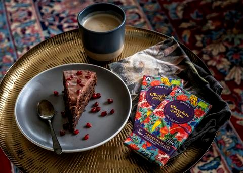 Image of Dark Chocolate Pomegranate Cake