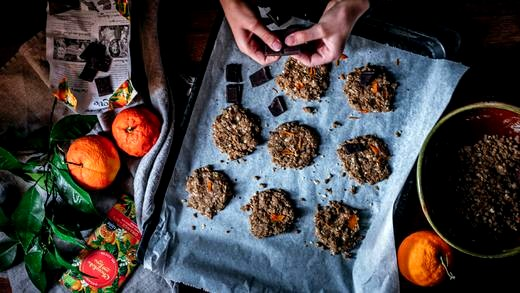 Image of Chocolate, Tahini & Orange Cookies