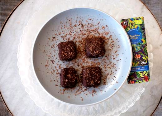 Image of Peanut Butter and Chocolate Ice Cream Squares Recipe