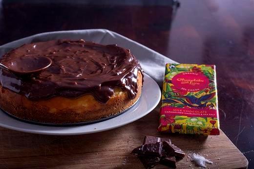 Image of Milk Chocolate and Hazelnut Cheesecake Recipe