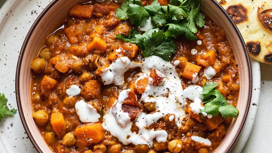 Image of Slow Cooker Vegetarian Chickpea & Sweet Potato Stew