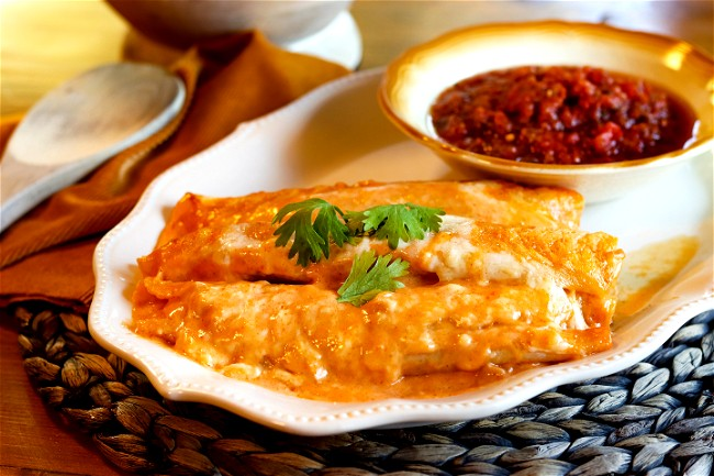 Image of Honey & Lime Chicken Enchiladas