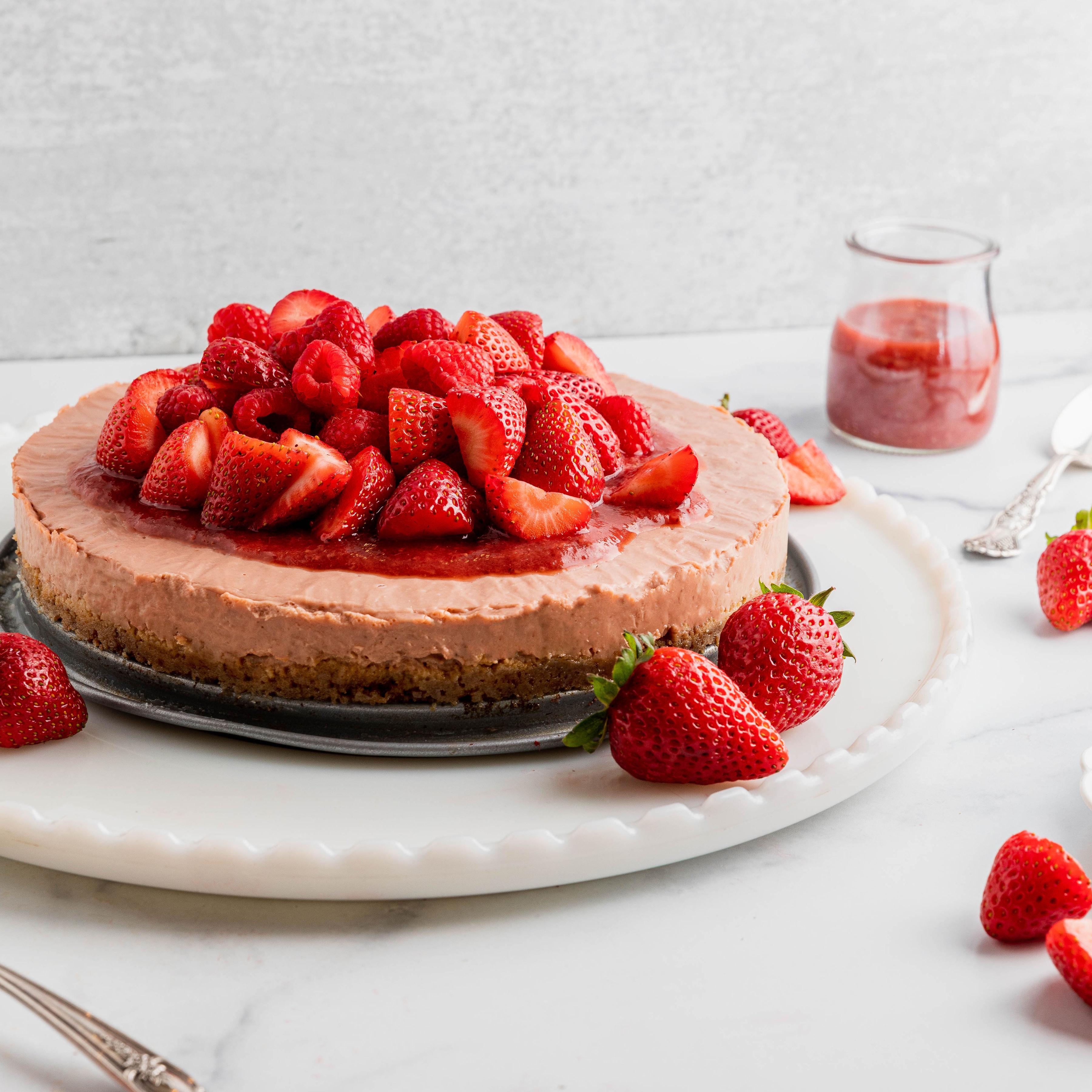 Image of Vegan Strawberry Cheesecake