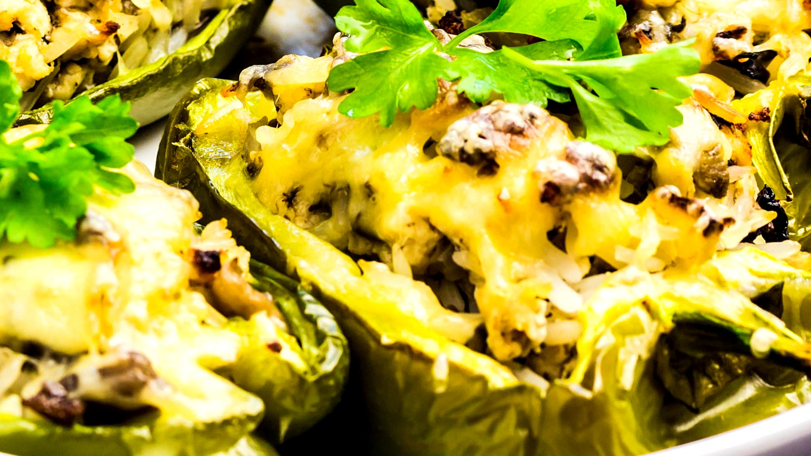 Image of Stuffed Bison Poblano Peppers