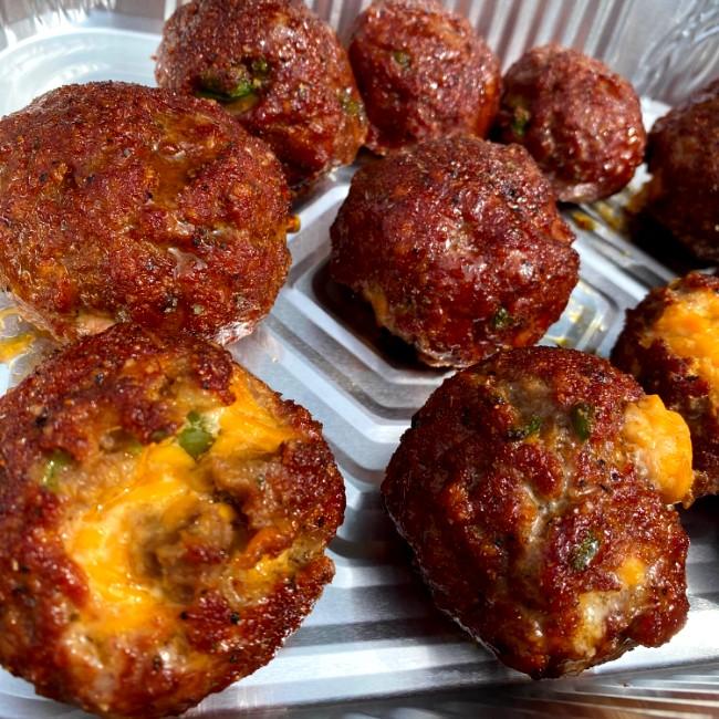 Image of Pimento Cheese Stuffed Sweet Meatballs