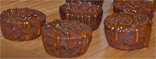 Image of Mini Chocolate Caramel Sea Salt Brownies