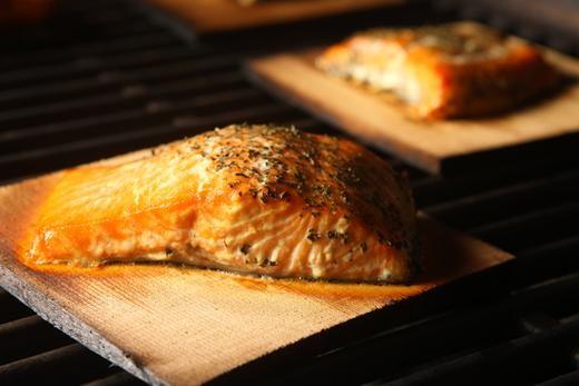 Image of Fig Glazed Cedar Plank Salmon