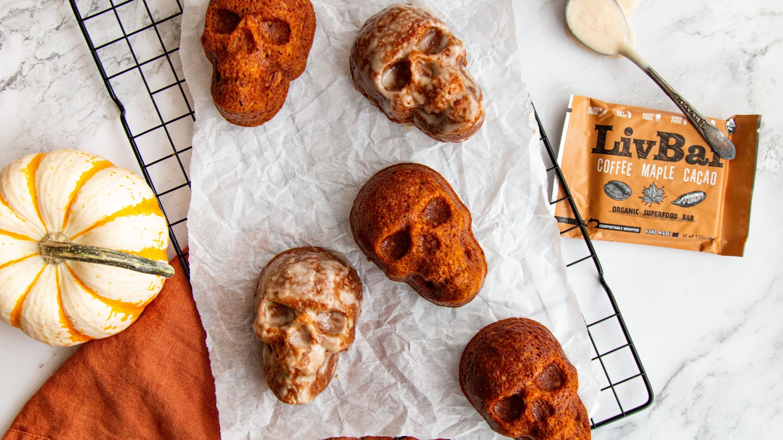 Image of Gluten Free Pumpkin Spice Skull Muffins