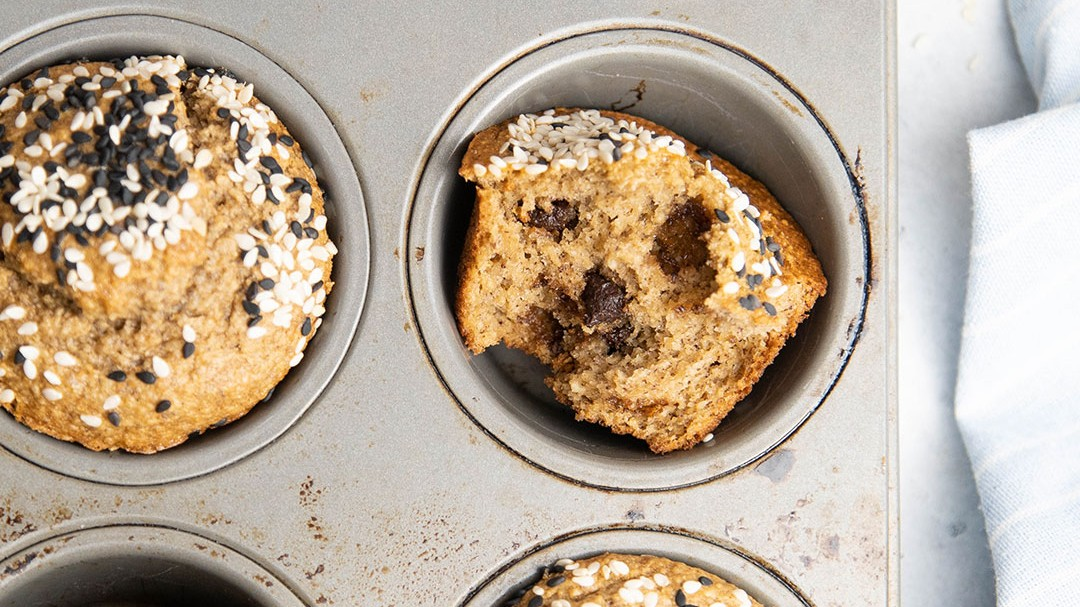 Image of Tahini Chocolate Chip Blender Muffins