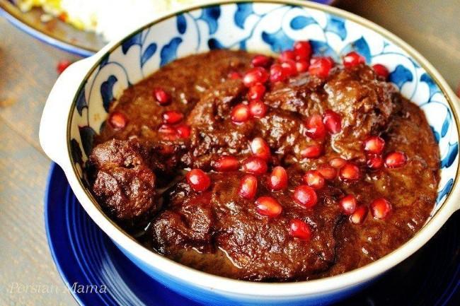 Image of Fesenjan (Persian Pomegranate Chicken Stew)