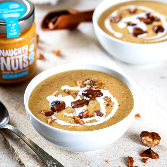 Image of Pilz-Maronen-Suppe mit Erdnussmus