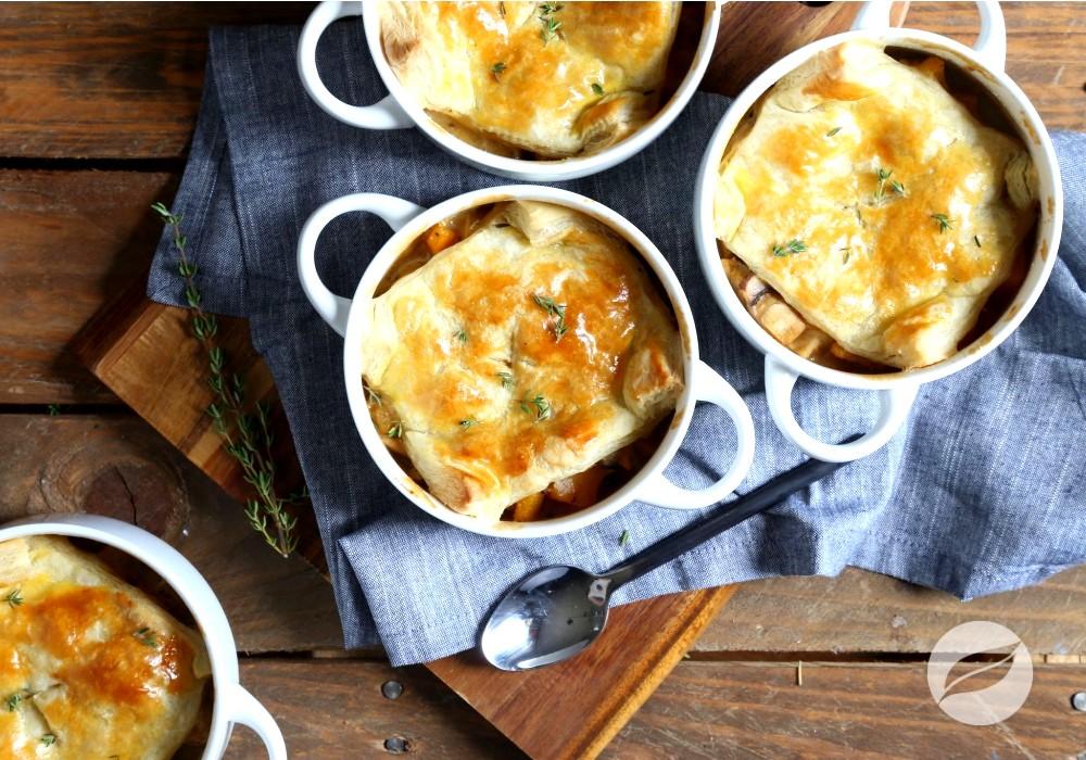 Image of Butternut Squash & Mushroom Chicken Pot Pies