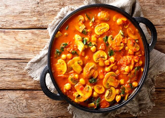 Image of Wild Mushroom Durban Curry