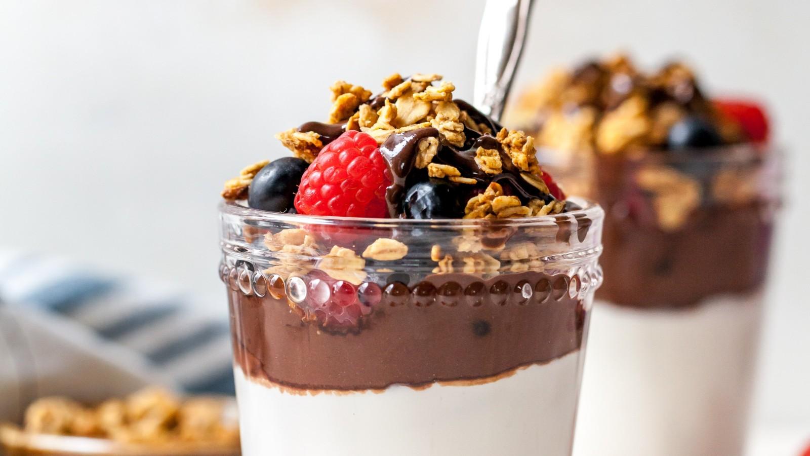 Image of Chocolate Tahini Yogurt Parfait