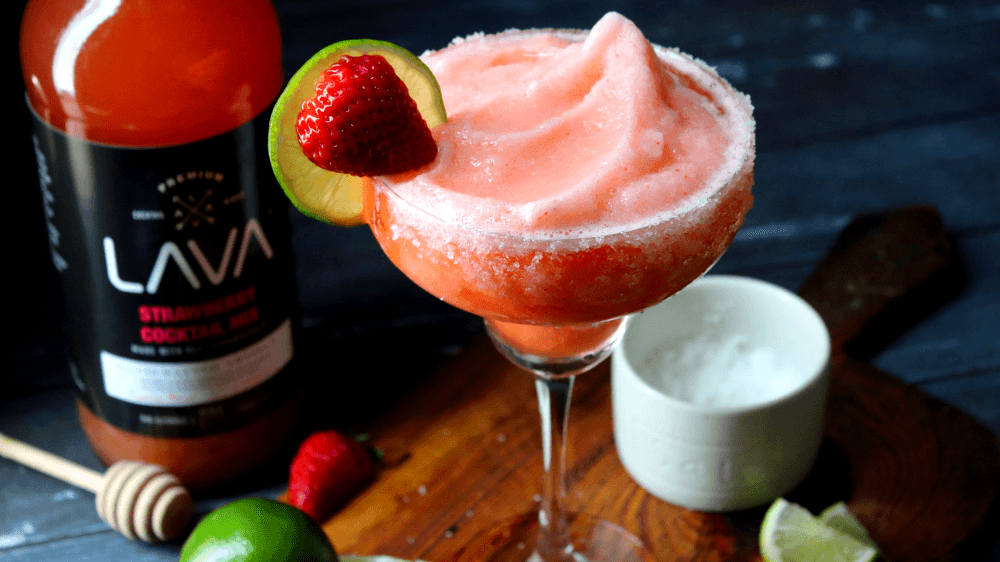 Image of Non-Alcoholic Virgin Strawberry Daiquiri Recipe