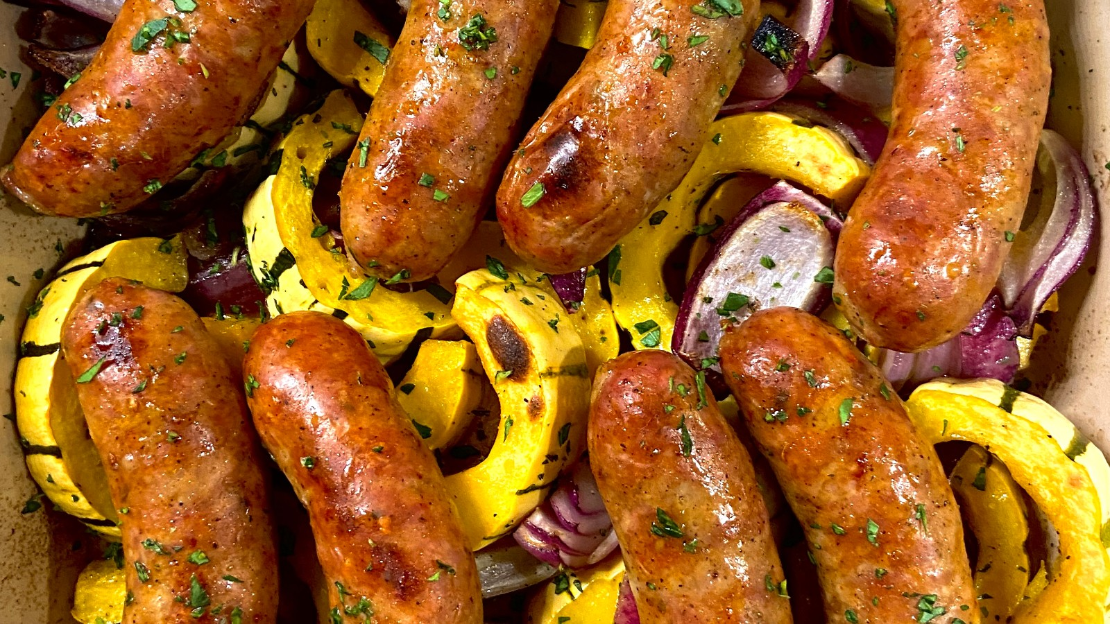 Image of Roasted Delicata Squash and Sausage