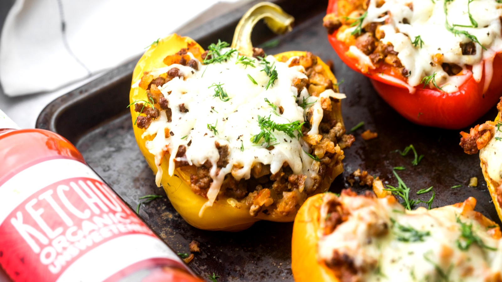 Image of Cheeseburger Stuffed Bell Peppers