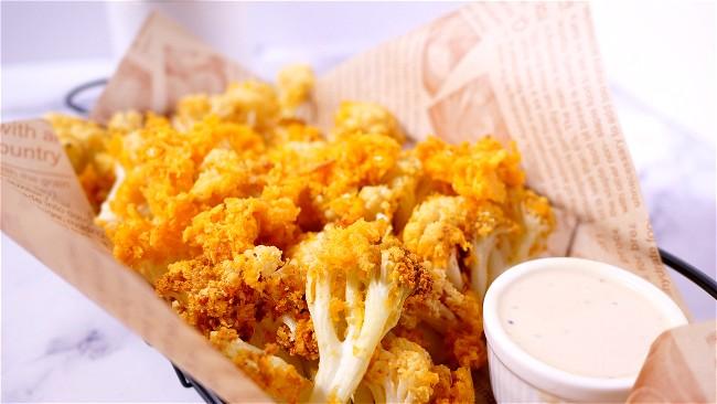 Image of Crispy Cauliflower in Air fryer